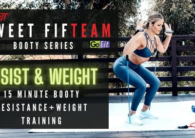 Ankle Weights and Resistance Cable Exercises: Sweet FifTEAM with GoFit BOOTY SERIES (3 of 3)