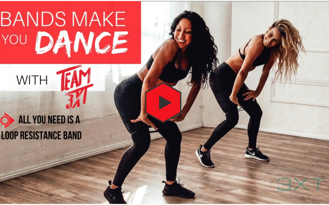 """Bands Make You Dance: Resistance Training + """"Get Busy"""" routine by Sean Paul"""