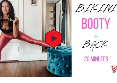 Bikini Ready Booty and Back Workout: Home workout