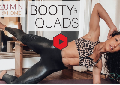 Booty and Quads at home workout: 20 minutes